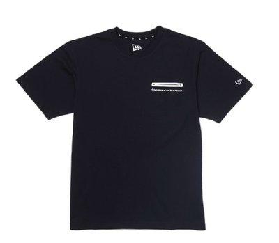 New Era Branded Heat Sealed Pocket Tee 深藍色口袋立體字體T恤