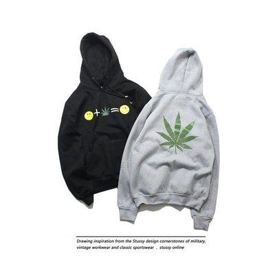 Cover Taiwan 官方直營 420 大麻葉 笑臉 連帽Tee 帽T Wiz Khalifa 黑色 灰色 (預購)