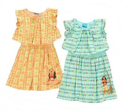 【現貨6碼】海洋奇緣 Moana   莫阿娜公主 假兩件式   洋裝  兩款可選 -- 橘色&藍色