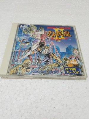 PCE CD ROM2 双截龍 2 The Revenge 新同品 連邊紙 1993 JAPAN 極罕收藏品 可雙打