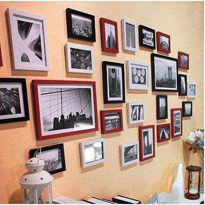 26框 簡約 超大客廳照片牆相片牆相框牆創意相框掛牆組合歐式