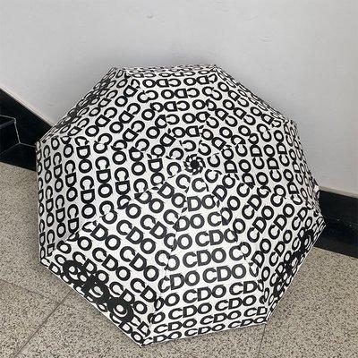 雨傘msho超火ins韓風CDG三折疊晴雨防曬便攜晴雨兩用黑膠男女手自動傘雨衣