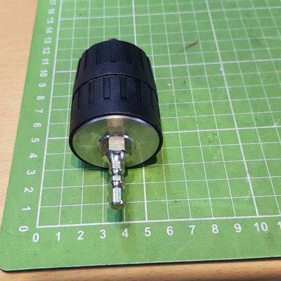 """4分自動夾頭(四分三爪夾頭) +標準6.35mm-強化鋼材熱處理過的六角頭接桿3/8"""" 24UNF 專用(含逆牙螺絲)"""