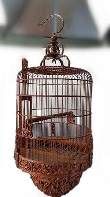 竹雕鳥籠(太子籠也叫鬥籠)   高古漢唐宋元明清民國近代瓷器玉器字畫石雕木雕雜項茶器酒器花器茶葉古董藝術生活日用品交流