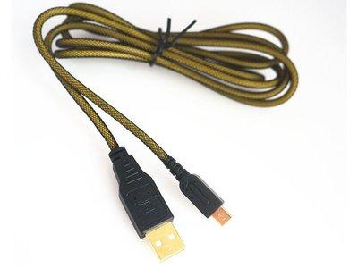 NEW N3DS/N3DSLL USB 充電線/電源線/編織線 24K鍍金接頭 桃園 直購價150元《蝦米小鋪》