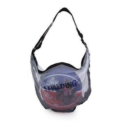 SPALDING 單顆裝網袋銀藍 (收納袋 瓢蟲袋 籃球袋 斯伯丁【99300301】≡排汗專家≡