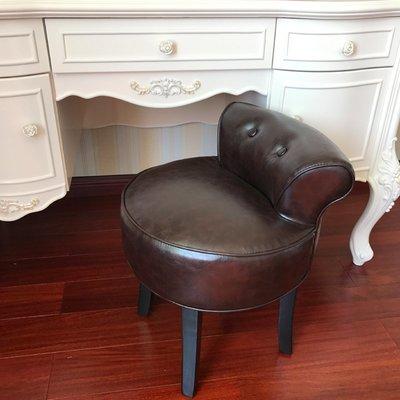 梳妝椅歐式梳妝凳靠背皮質化妝凳子化妝椅美甲椅梳妝台臥室凳子沙發椅 【全館可開發票-愛購時尚館】