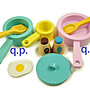 Mini Gas Stove 木製玩具 兒童扮家家酒 擬真瓦斯爐 灶檯 木質廚房 餐具 廚師角色扮演遊戲 鍋具料理組 蛋