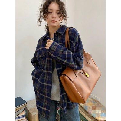 【嘟嘟Shop】 KERNEL COSMOS 20FW 藍綠格紋 秋冬大口袋磨毛感翻領加厚襯衫外套