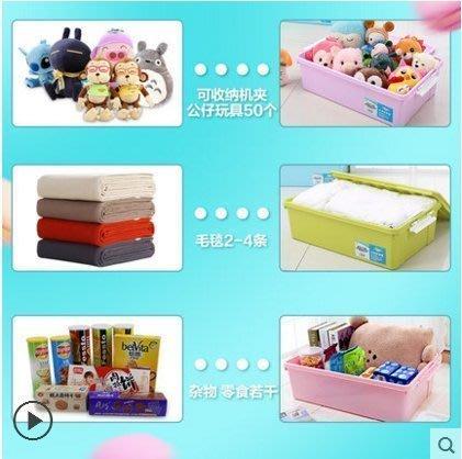 ☜男神閣☞沃之沃特大號床底收納箱塑料收納盒整理箱床下衣服被子玩具儲物箱