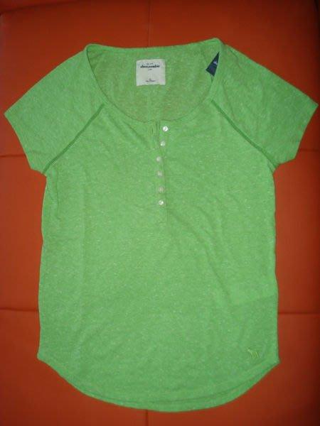 【天普小棧】abercrombie&fitch A&F henley tee亨利領短T短袖T恤Kids XL號現貨抵台