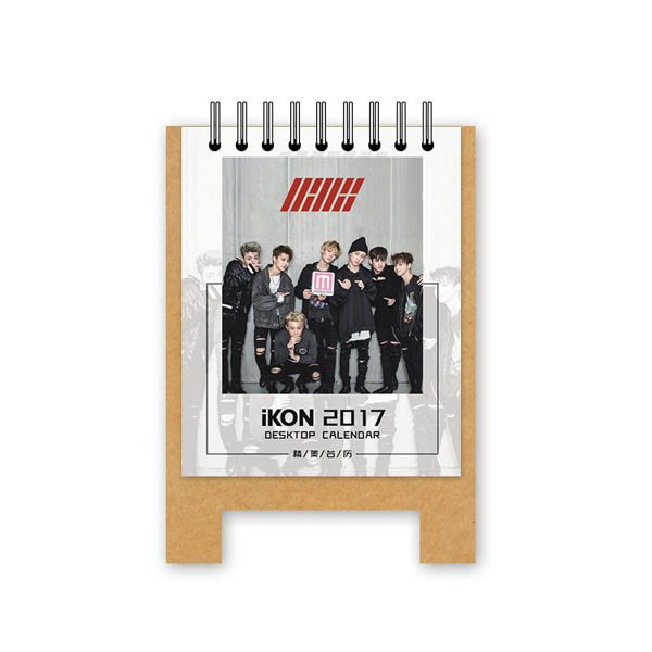 現貨出清👍iKON 2017年桌曆 年曆月曆 台曆E619-C【玩之內】韓國 韓團