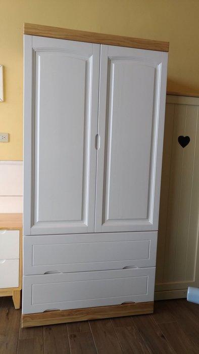 戀戀小木屋 清新北歐風衣櫃 全實木製做   現貨款