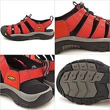 =CodE= KEEN NEWPORT H2 SANDALS編織彈性綁繩護趾防水包頭涼鞋(紅黑)1014186 拖鞋 男