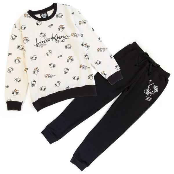 代購現貨 日本三麗鷗HELLO KITTY棉質長袖上衣+長褲居家服套裝  旅行探險系列