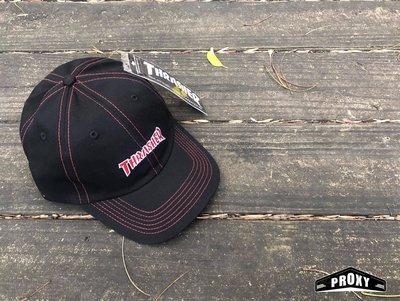 【PROXY】THRASHER HOMETOWN CONTRAST DAD CAP 牛仔布 拼布 老帽 黑紅