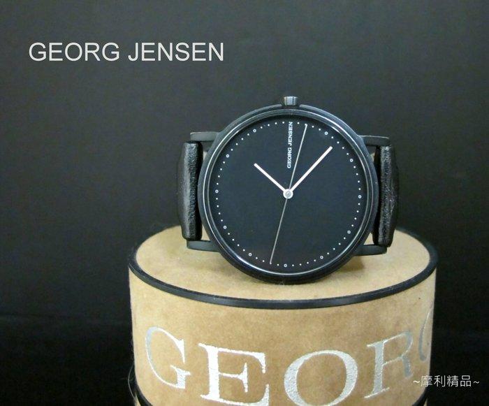 【摩利精品】GEORG JENSEN喬治傑345霧黑IP電鍍錶*真品* 低價特賣中