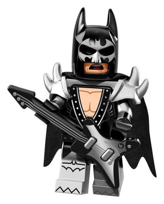 無外袋【LEGO 樂高】Minifigures人偶系列: 蝙蝠俠電影人偶包抽抽樂71017 | #2 搖滾蝙蝠俠+電吉他