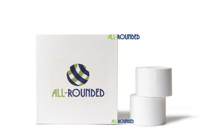 【ALL-ROUNDED】2吋白貼盒裝6卷優惠 2吋 運動貼布 /白貼/白繃/運動貼布/貼紮/運動繃帶/皮膚膜