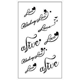 【萌古屋】古典英文 - 男女防水紋身貼紙原宿刺青貼紙HC-182