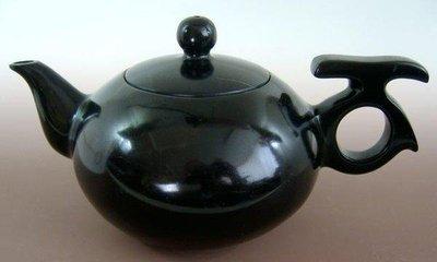金牛礦晶.茶壺【黑膽石心 石壺L17#】vqq-4