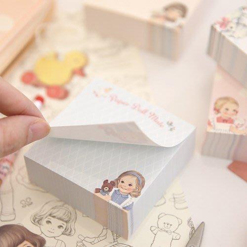Ξ ATTIC Ξ 韓國afrocat~Paper Doll Mate Memo Bloc