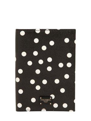 喬瑟芬【Dolce Gabbana】特價~2017秋冬Polka Dots Passport Holder護照夾