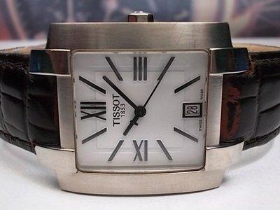 瑞士 天梭 SWISS TISSOT 32x40mm 男士石英腕錶 除全新皮帶外 整隻原裝