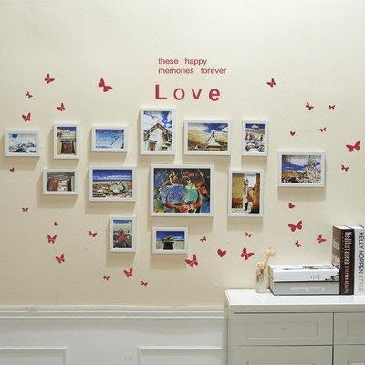 ☜男神閣☞臥室裝飾歐式13框照片墻創意相框墻組合相片墻客廳韓式懸掛