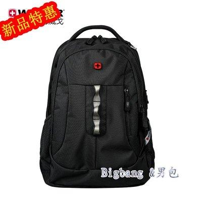 [bigbang&男包]新款後背包Wenger威戈瑞士軍刀雙肩包商務15寸電腦包大容量旅行包學生書包公事包BBIC.39