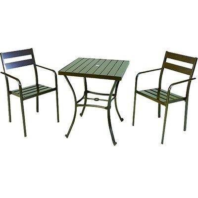 【紅豆戶外休閒傢俱】背二鋁合金塑木方桌椅組 一桌二椅 庭園桌椅 咖啡廳桌椅 餐廳桌椅 中庭桌椅 民宿桌椅 農場桌椅