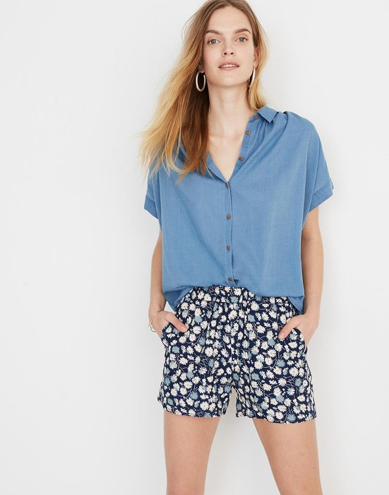 【BJ.GO】美國 madewell Central Shirt in Bright Indigo 明亮靛藍短袖襯衫