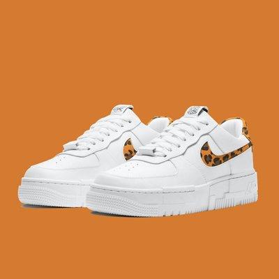 "GOSPEL【Nike Air Force 1 Pixel ""Leopard"" 】白 豹紋 女款 CV8481-100"
