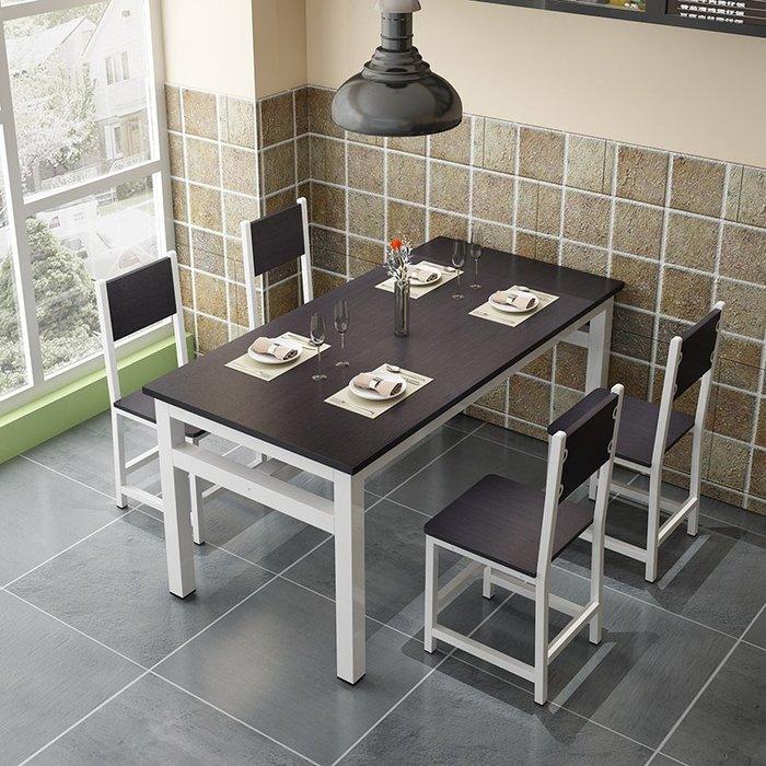 降價大促-餐桌快餐桌椅組合簡約小吃店餐桌椅飯店餐廳食堂桌椅4小戶型家用WY
