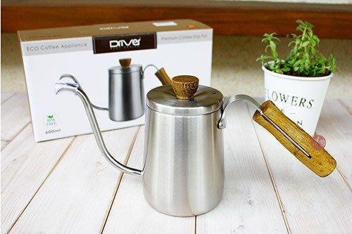 咖啡壼_織田Premium原木細口_600ml_DRP-200W-60ST◎細口.咖啡壺.茶壺.水壺.不鏽鋼