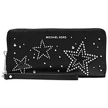 Coco小舖MICHAEL Michael Kors Travel Wallet  黑色星星卯釘手拿長夾