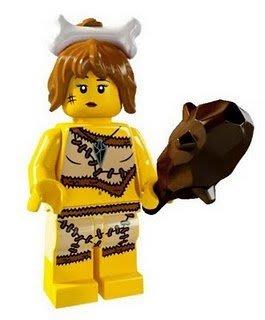 絕版品【LEGO 樂高】玩具 積木/ Minifigures人偶包系列: 5代 8805 單一人偶: 原始女孩