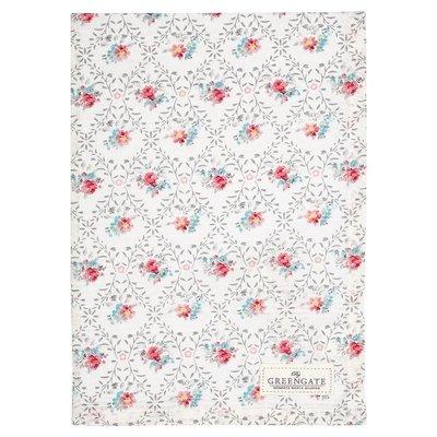 GreenGate Tea Towel Daisy Pale Grey