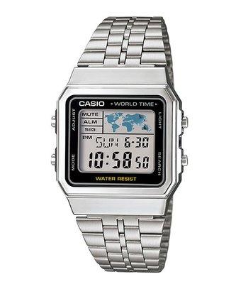 【金台鐘錶】CASIO 卡西歐  防水 LED照明 復古風 數字型男錶 A500WA-1D