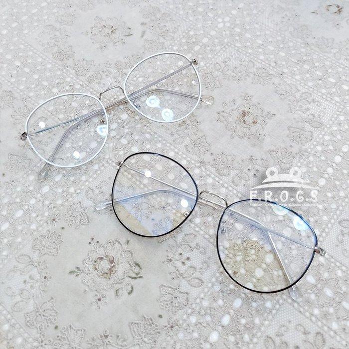 F.R.O.G.S E2029日韓學院風超細框耐看INS可佩度數造型眼鏡素顏眼鏡男女同款平光眼鏡裝飾眼鏡無度數(現+預)