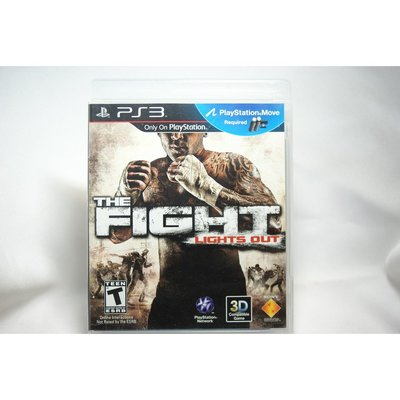 [耀西]二手 美版 SONY PS3 動感格鬥 The Fight: Lights Out 含稅附發票