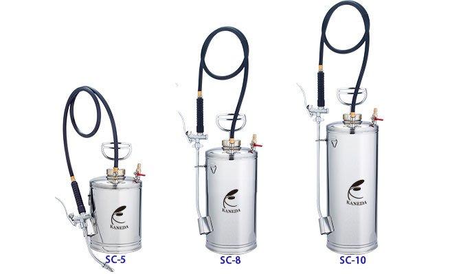 【KANEDA】SC-8不鏽鋼噴霧器/防疫噴霧器/消毒噴霧器/空壓機款噴霧器/自動洩壓/病蟲害防治/氣壓式噴霧器/壓力桶
