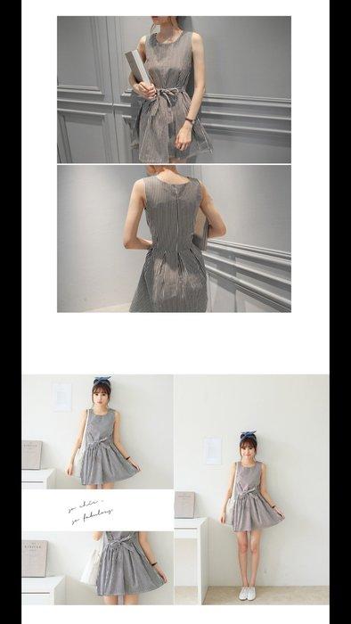 ☀APPLE SHOP☀ 挺版條紋綁帶洋裝