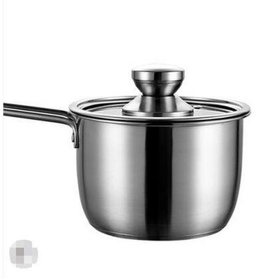 304不銹鋼奶鍋迷你小蒸鍋湯鍋不粘鍋家用熱煮奶鍋煮鍋電磁爐小鍋