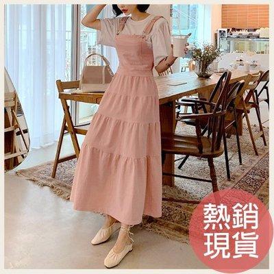 正韓。氣質背心蛋糕裙吊帶洋裝。韓國連線。韓國空運。0501。現貨粉【gd26mayi3258】