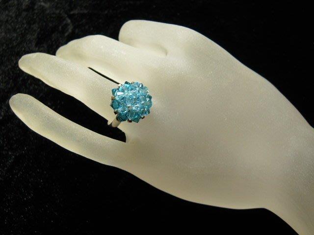 ※水晶玫瑰※ SWAROVSKI 水晶戒指~(HAND49)