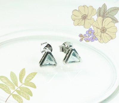 【avatar】925銀~三角型包鑲鋯石耳環(耳針)情人節,結婚紀念,生日禮物※愛凡達※