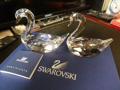 幾全新正品 施華洛士奇 Swarovski  水晶天鵝一對 0837154 原盒單