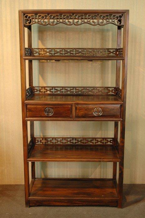 大高雄冠均二手貨家具(全省收購)---全新【嚴選特級雞翅木】實木 展示櫃 置物櫃 收納櫃 書櫃 K6