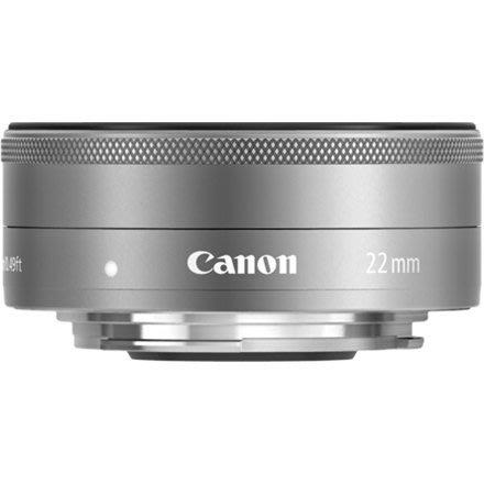 【eWhat億華】Canon EF-M 22mm F2 STM 平輸 EOS M EOSM 專用 平輸  銀灰色 彩盒 【2】